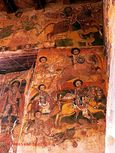 Fresco in the church of Abraha Atsbeha near the small town of Wukro