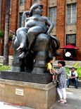 Statue of Europa in the Plaza Botero, Medellin