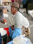 Woman at the Thursday market in Saquisili
