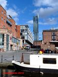 Cityscape in Manchester with Beetham Tower