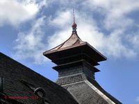 Pagoda chimney in the Glengoyne Whisky Distillery