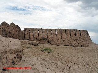 Ayaz Qala mud brick castle in Khoresm
