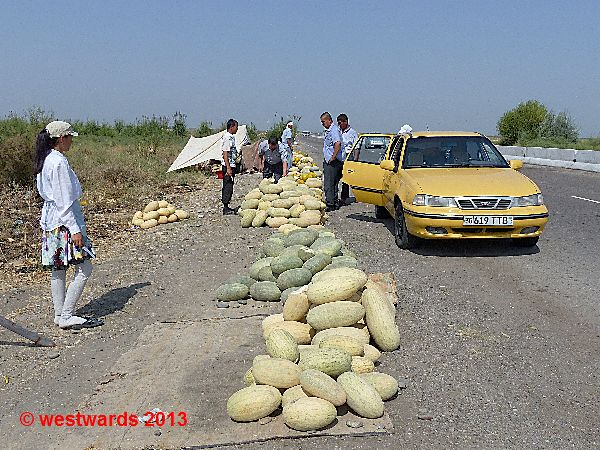 Melon stop in Uzbekistan