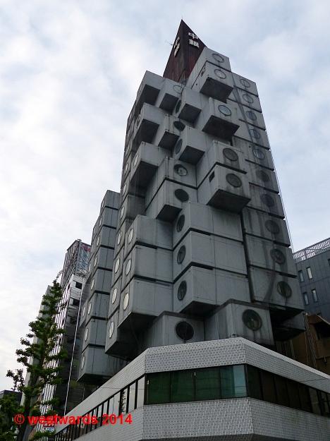 Nakagin Capsule Tower in Tokyo, Japan