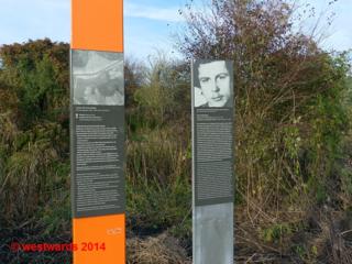 Information panels on the Berlin Wall Cycling Trail (Mauerradweg)