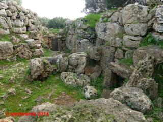 Half-buried houses in the Talati de Dalt excavations, Talaiot culture, Menorca