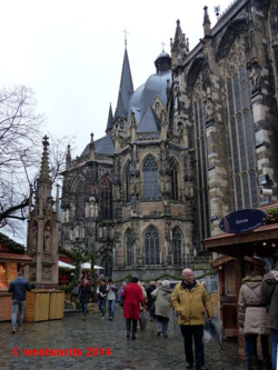 The Gothic exterior of the Aachen Cathedral