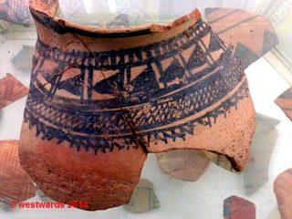 Sarazm pottery sherd with 5000 year old pattern