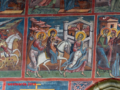 Fresco of the Flight to Egypt at Moldovita Monastery, UNESCO World Heritage