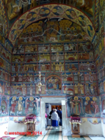 Interior of the Monastery of Moldovita, UNESCO World Heritage