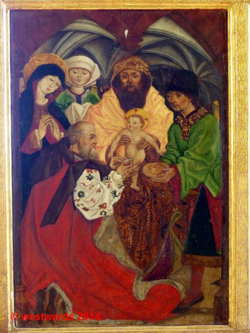 Circumcision of Christ, altarpiece in the Church of Biertan, Romania