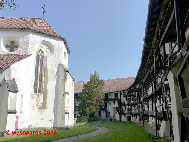 The fortified church of Prejmer, Romania