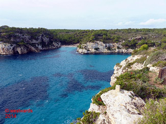 View over the bay of Cala Macarella