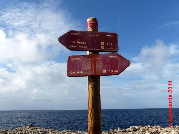 Well-signed: The Cami de Cavalls hiking trail on Menorca