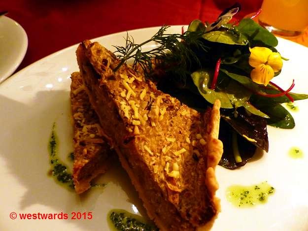 Sauerkraut quiche in the Vaust vegan restaurant in Charlottenburg / Berlin
