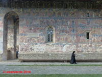 Nun at the Monastery of Humor, UNESCO World Heritage