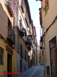 Typical winding alley in Toledo