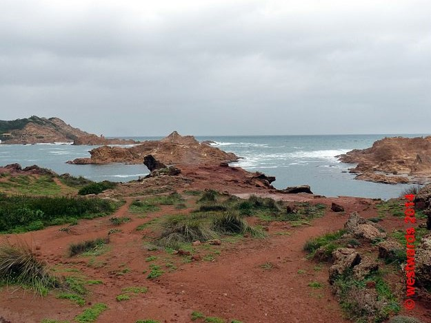Wild coast line in the bay of Cala Pregonda