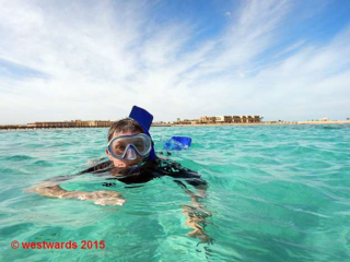 Snorkelling in Soma Bay, Egypt